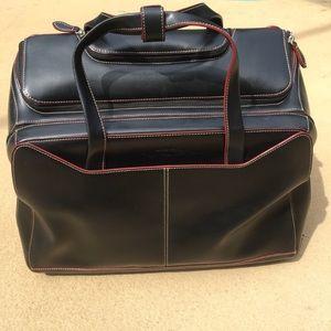 Handbags - Lodis Audrey Leather Rolling Laptop Briefcase